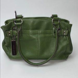 Tignanello green leather sachet bag